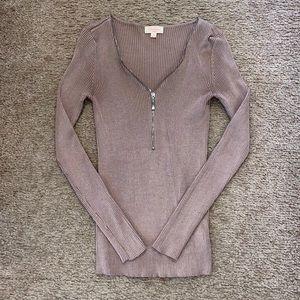 Ambiance Half Zip Sweater Size Small